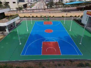 中山粤海能源有限公司篮球场建设